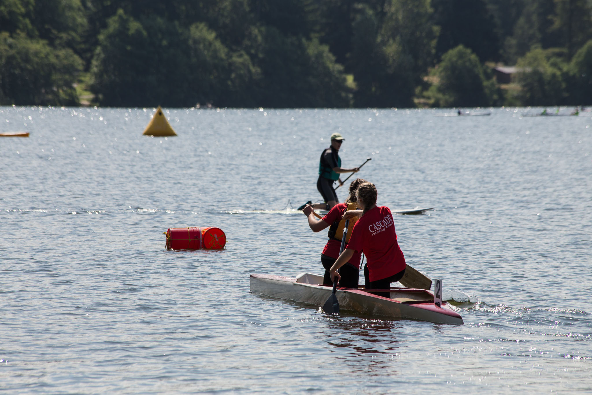 Kids C2 canoe race